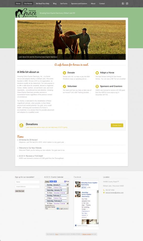 rescuehorses.org - New Design