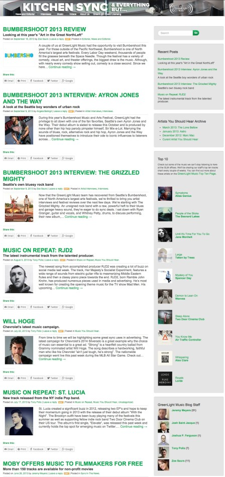 greenlightmusic blog screenshot